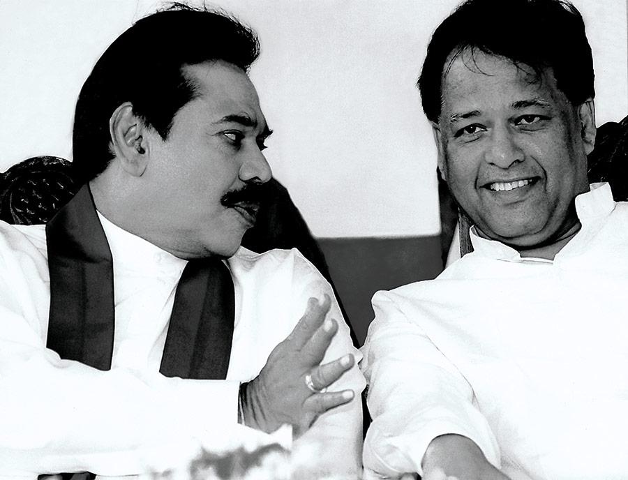 With President Mahinda Rajapaksa on the campaign trail.
